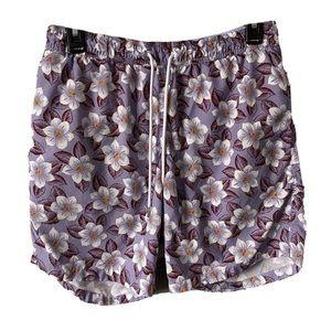 "Bonobos 28"" 30"" Swim Trunks Purple Floral Lined"